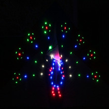 Free shipping high quality 3sq.m 208p led lamp led kite peacock spreading kites flying toys chinese kite for adult albatross