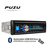 1din blue light Bluetooth USB SD tape recorder car radio player with remote control hands free AUX in high power 4X62Watts