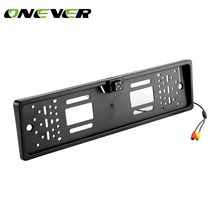Onever Waterproof European License Plate Rear View Camera Auto Car Reverse Backup Parking Rear view Camera Night Vision(China)