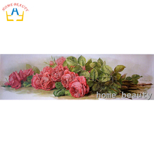 Square drill diamond embroidery canvas painting diy 5d diamond mosaic rhinestones picture needlework decor flowers rose AB064(China)