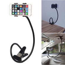 New Universal flexible phone holder Arm Lazy Gooseneck Stand Holder Stents Flexible Bed Desk Table Clip Bracket For smart phone