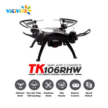 VICIVIYA TK106RHW Wifi FPV Quadcopter Elfie Drone with Camera HD 0.3MP Altitude Hold Waypoints G-sensor 4CH RC Helicopter GYRO ~