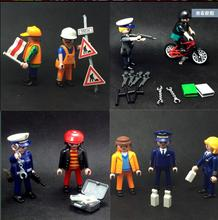 Original Playmobil Police Pirate Toys Set Ocidental Castle Set Play Mobil Figure For Girls/Boys Juguetes Army Castillos Kid Gift