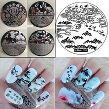 NEW Plate Nail art stamp kit with 108 designs stickers Template Nail Art Polish Stamping Plates Pattern Stencils For Nails stamp(China)