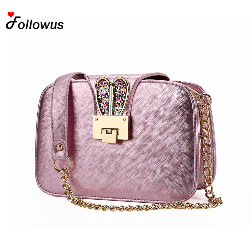 Cute Cherry Bag Small Fashion Women Bag High Quality Rabbit Ears Shoulder Bag Party Time Messenger Bag New Bolsos Rose Gold <br><br>Aliexpress