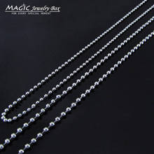 10 Pcs/lot DIY 2mm Stainless Steel Ball Bead Chain Necklace Pendant Bracelet Keychain Women Bag Dog Tag Chain For Jewelry Making