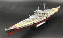 1:1000 WWII German Bismarck battleship model Alloy collection model Holiday gift