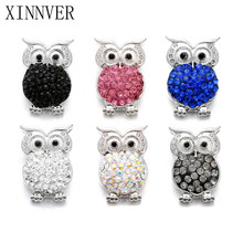 Buy 10pcs/lot High Snaps Jewelry Crystal Owl Snaps Button Fit 18mm Snap Bracelet Bangle DIY Women Men Jewelry for $4.49 in AliExpress store