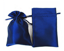 satin drawstring jewelry bag 200pcs/lot gift pouch size 11*15cm hair bags without logo printing and free shipping