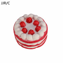 JJR/C Birthday Cake Decoration, Simulation Cake Material PU Artificial & Creative Fake Cake Decoration For Children Funny Gifts(China)