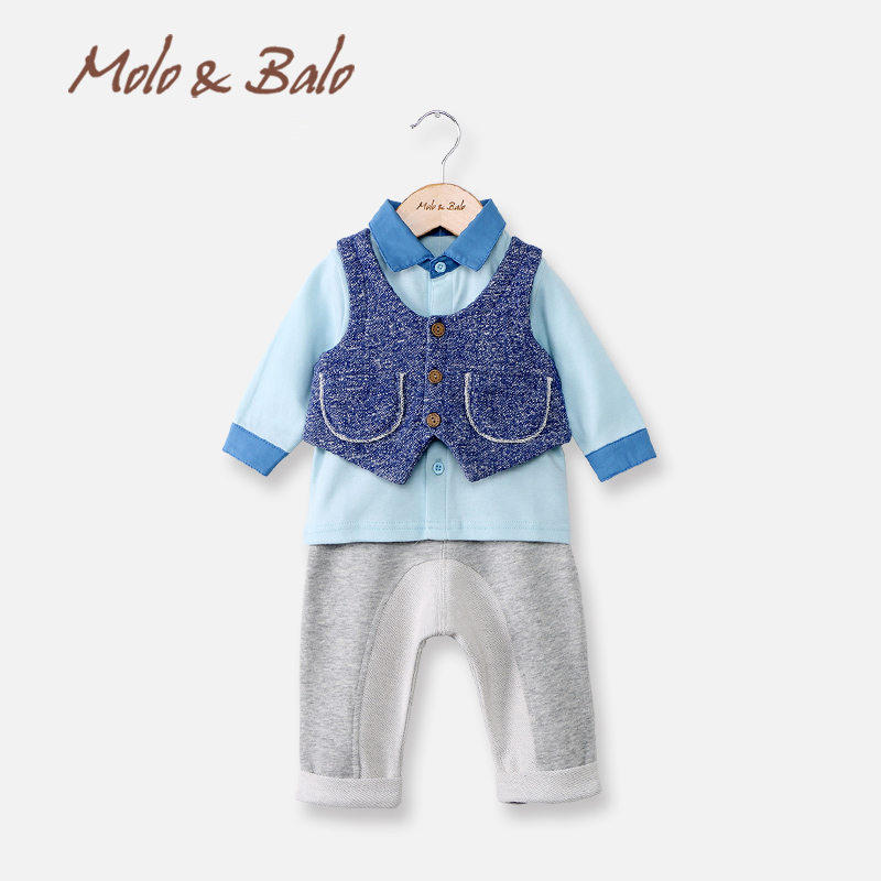 MOLO&amp;BALOBaby spring set childrens clothing three piece set child clothes baby child male spring and autumn set <br><br>Aliexpress