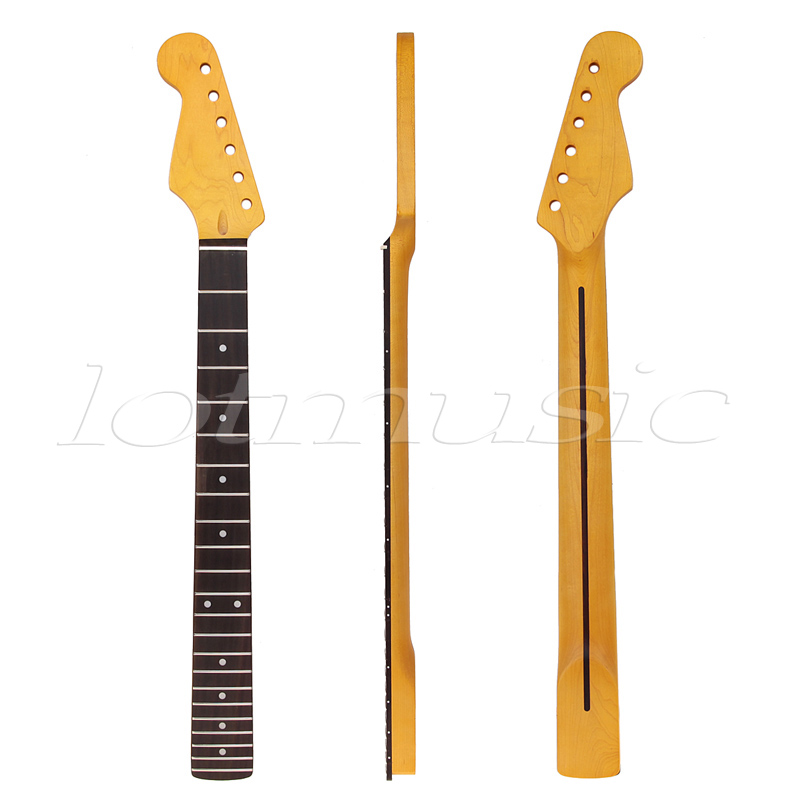 Left Handed Neck For Electric Guitar Parts Replacement Rosewood Fingerboard Black Dot 22 Frets Maple Guitar Neck<br>