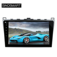 SINOSMART 2 din 10.2'' RAM 2G/1G Android 6.0 Car Radio GPS Navigation Player for Mazda 6 2008-2015 Support BOSE Audio System