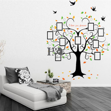Wholesale Tree Wall Sticker Heart Shape DIY Photo Frame Wall Decoration Creative Beauty Window Bedroom Decor Accessories
