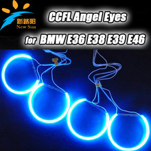 131MM E38 E46 E36 E39 CCFL Angel eyes  for BMW headlight,  Super Bright CCFL Angel Eyes Halo Rings with inverters multi-colors