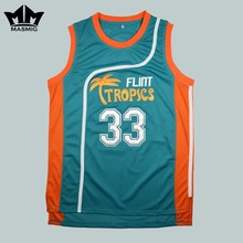 MM MASMIG Semi Pro Jackie Moon 33 Flint Tropics Basketball Jersey Green(China)