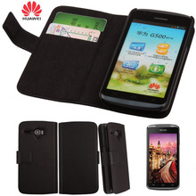 Huawei U8836D G500 PRO Flip Leather Cover Wallet Luxury Pouch Case + Screen Protector