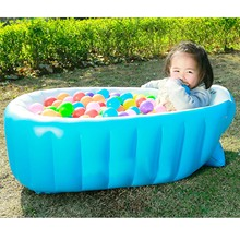 NC Portable Travel Baby Infant Toddler Inflatable Bathtub Shower Basin Air Swimming Pool Foldable Anti-slip with Soft Back Pad(China)