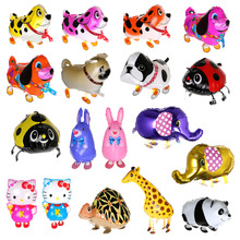 Anmas home 5 pcs  lowest price! 18 styles balloons birthday party decoration Foil Helium Balloon Walking Animal Balloons Pet Toy