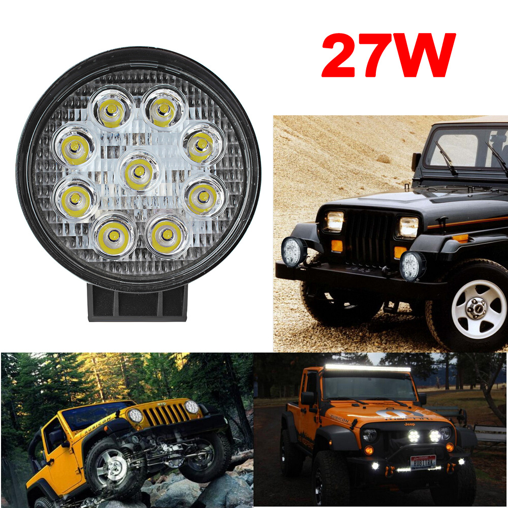 [SALE] 4 Inch 27W High Power 12V 24V LED Work Light Round LED Offroad Light Lamp Worklight for Off road Motorcycle Car Truck<br><br>Aliexpress