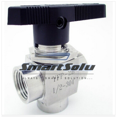 free shipping 304 Stainless Steel 3 way stainless Ball Valve 1/2 BSP Female Thread<br>