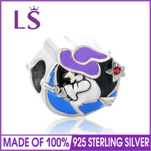 LS Authentic 925 Sterling Silver Bead Charm Enamel Dragon Beads Fit Most Popular Bracelets Bangles DIY Women Jewelry