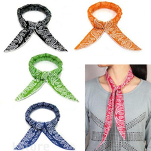 5 Colors Cooler Scarf For Women Refreshing Non-toxic Neck Body Ice Cool Cooling Wrap Tie Headband Bandana Wrist Towel(China)