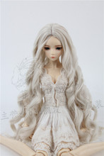 luodoll Sd bjd doll wig 1/3 in the sub-curling bell lily blue wave 3 points 60cm doll hair