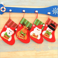 Christmas Stockings Navidad Santa Sack Children Gift Bags Xmas Decorations Santa Claus Doll Socks Christmas Ornaments Supplies