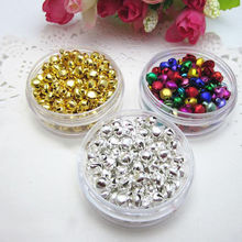 6MM 100 pcs/lot Mix Colors Loose Beads Small Jingle Bells Christmas Decoration Gift Wholesale