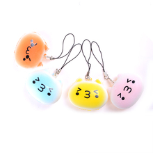 JETTING New Kawaii Universal 4cm Marshmallow Bun Squishy Pendant Baby Toy Smile Bread playhouse toys Mobile Phone Strapes(China)