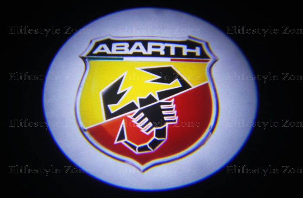 Save 20% 2 x Car Door Light led welcome light Auto Door Logo Light for Fiat Abarth Punto<br><br>Aliexpress
