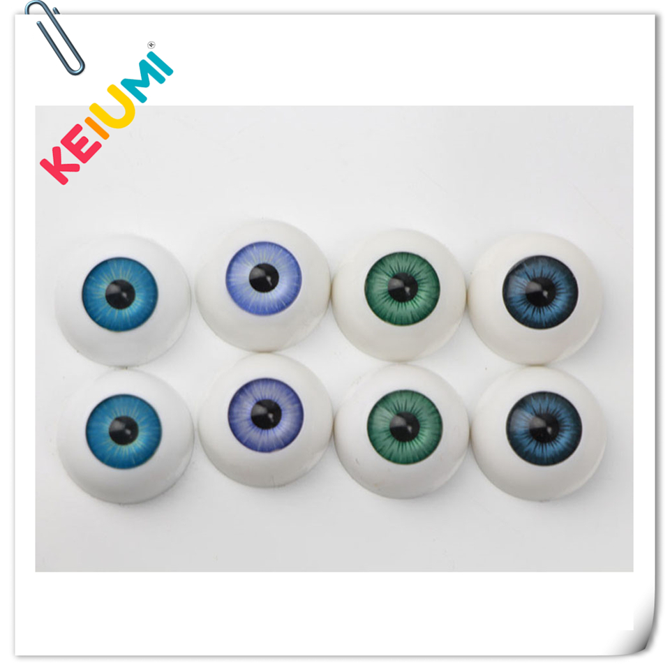 22 mm Pabol New Blue Reborn Doll Eyes Acrylic half round FAST SHIPPING!!!