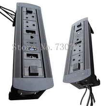 Silver/Black Flipping Electric Socket Power strip extension outlet for audio video system SA standard power strip outlet