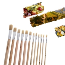 12Pcs Art Painting Brushes Set Acrylic Oil Watercolor Artist Paint Brush Gift Drop Ship(China)