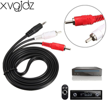 xvgjdz 1.5M Audio Cable 3.5mm AUX to RCA Converter Adapter 3.5 jack male to 2RCA male L/R cable for iPod MP3 MP4 Car Phone PC TV