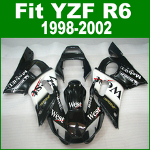 West Fairings For YAMAHA R6 98 1998 2002 top-selling Fairing kit ( customize sticker ) ll07