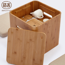 ZEN'S BAMBOO Stool Storage Tatami Table Simple Design Coffee Table Chinese Tea Table Home Funiture(China)