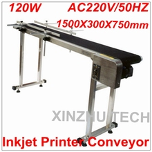 Brand New Inkjet Printer Conveyer 120W Conveying Table Band Carrier CSD120 Belt Conveyor For Bottles/ Box/ Bag/ Sticker(China)
