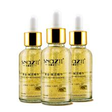 Gold revitalizing essence bottled 3 flat stripe anti-wrinkle whitening blemish anti aging moisturizing skin care products