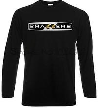 Brazzers T-Shirt long Sleeve Excellent Quality Cool Porn Funny Men Ladies Gift(China)
