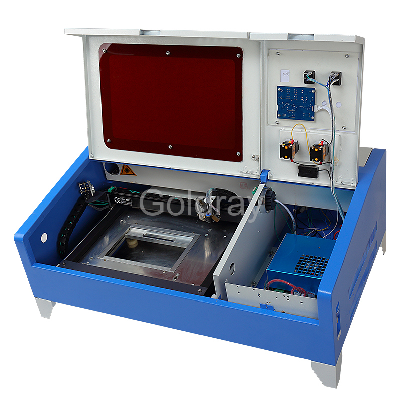 NO Tax For Russian Laser Cutting engraving Machine 40W with CO2 Laser Tube Power and USB Port, Lift System / UP and Down(China (Mainland))