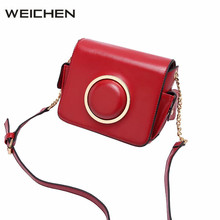 Bags For Girls Red Sequined Ring Camera Woman Bag 2017 Leather Shoulder Bag Female Crossbody Messenger Bags Fashion Dames Tassen(China)
