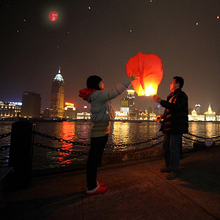 10pcs/Lot 32 Inch Red Romantic Chinese Sky Lantern Wish Balloon Flying Lantern For Wedding Party(China)