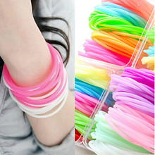 Wholesale 20PCS/Lot Neon Fluorescent Luminous Bracelets Wristband Rubber Gummy Hairband Unisex bangles Glow Bracelets MB01