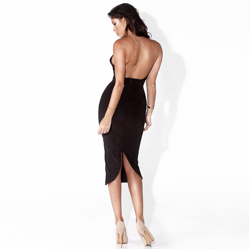 Articat Hollow Out Party Bodycon Bandage Dress Women 17 Off Shoulder Choker Long Pencil Dress Sexy Backless Split Winter Dress 6