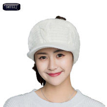 SMTZZJ Winter College Girls Grey Empty Top Hat For Women Fashion Cap Casual Sport Outdoor Foldable Wool Knitted Baseball Caps(China)