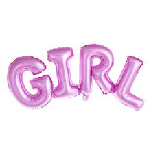 1pc Boy Girl Connection Letter Foil Balloons Children Birthday Party Balloons Baby Shower Party Decoration Kids Gifts(China)