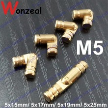 4pcs size5x15mm/5x17mm/5x19mm/5x25mm Pure Copper Brass Wine Jewelry Box Hidden Invisible Concealed Barrel Hinge(China)