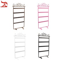 Fashion Metal 48 Holes 24Pair Earrings Display Wall Frame Rack Holder Iron Painted 4 Layer Jewelry Showcase 4 Colour Available
